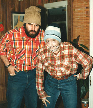 Here is Randy with his lovely wife Linda, both dressed as grumpy old lumberjacks for a Halloween costume party, circa 1985. Note the highly intelligent looks on their faces...